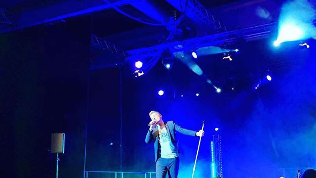 Eloy de Jong auf der Bühne