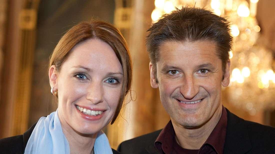 Hartmut Engler mit seiner Verlobten Katrin