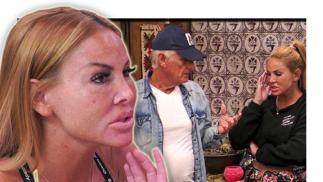 Lisha blickt im Vordergrund zur Seite - im Hintergrund sieht man Martin Bolze und sie beisammen stehen (Fotomontage)