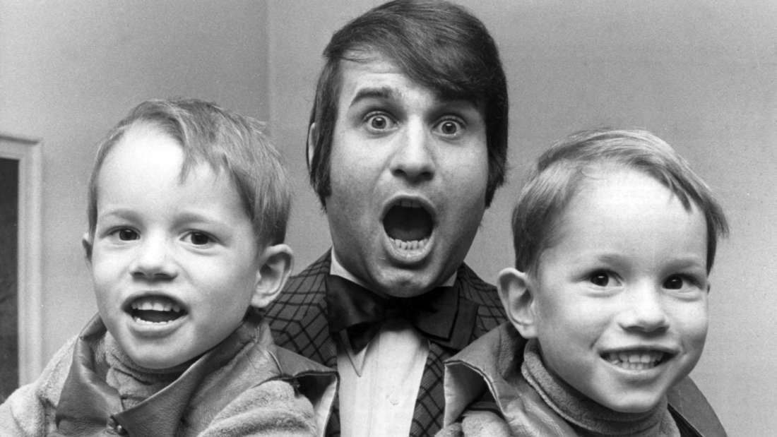 Drafi Deutscher mit seinen Zwillingssöhnen Drafi Jr. und Rene