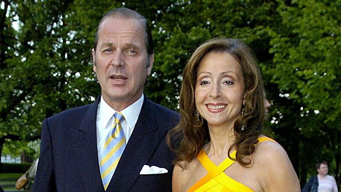 Vicky Leandros mit ihrem zweiten Ehemann Baron Enno Freiherr von Ruffin