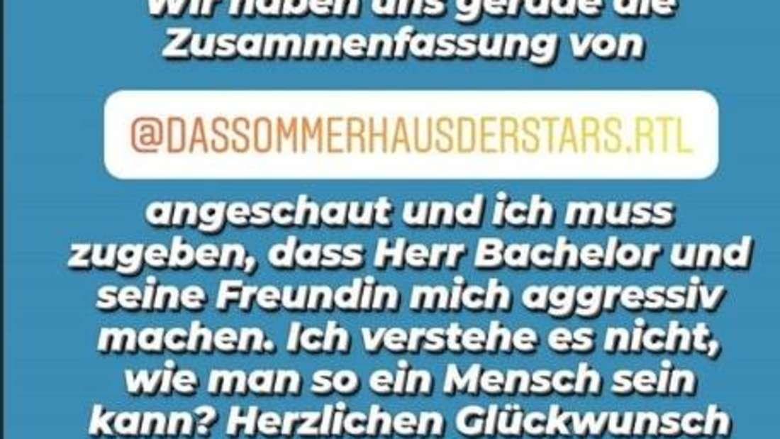 """Screenshot von Anna Heisers Story, in der sie sagt, was sie von dem TV-Format """"Das Sommerhaus der Stars"""" hält"""