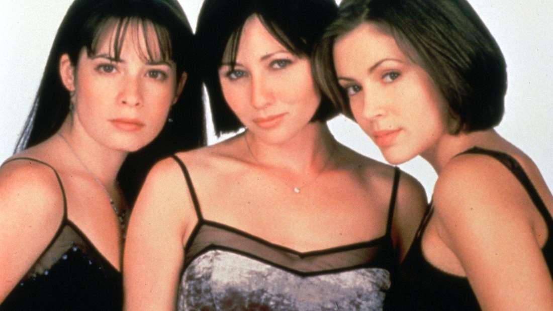 """Holly Marie Combs, Shannen Doherty und Alyssa Milano, Darstellerinnen der TV-Shows """"Charmed - Zauberhafte Hexen"""""""