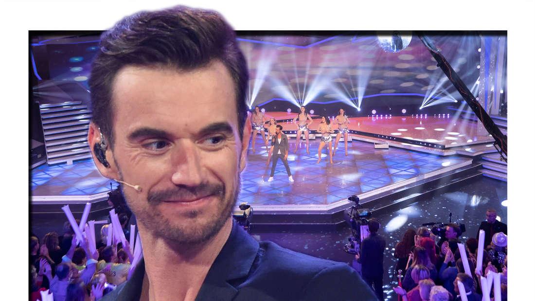 """Florian Silbereisen singt bei der live im Fernsehen übertragenen Sendung """"Die Schlager des Jahres"""". (Fotomontage)"""