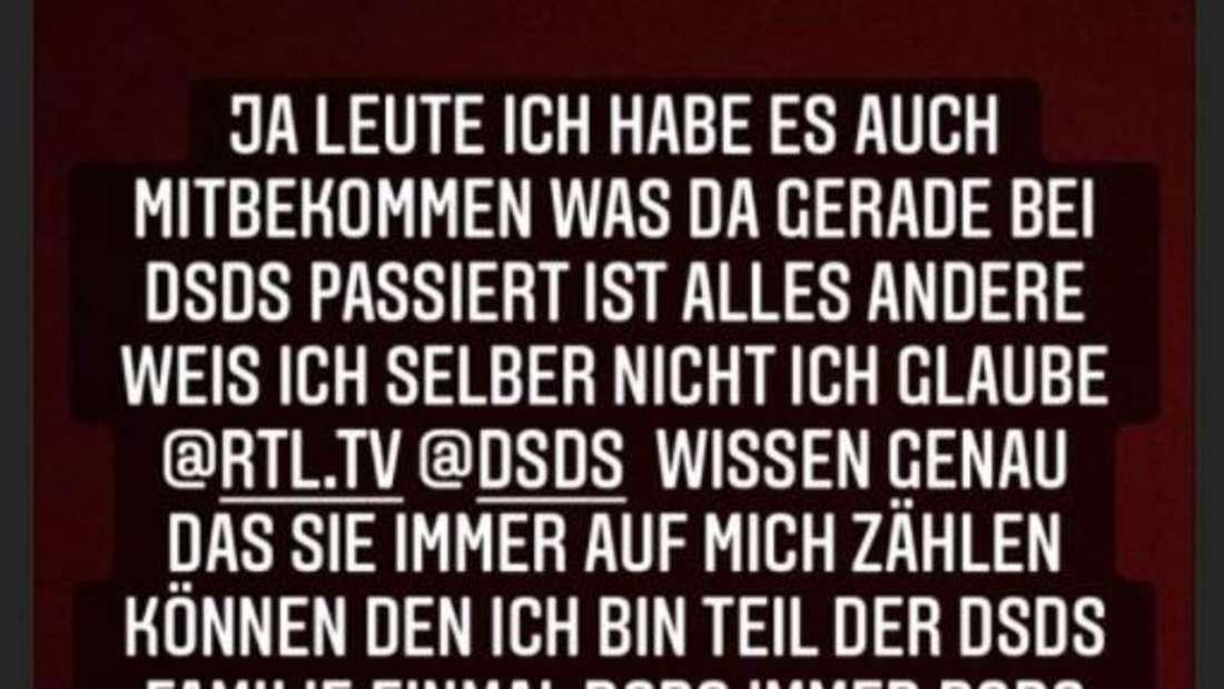 """Instagram-Post von Pietro Lombardi über den """"DSDS""""-Ausstieg von Michael Wendler"""