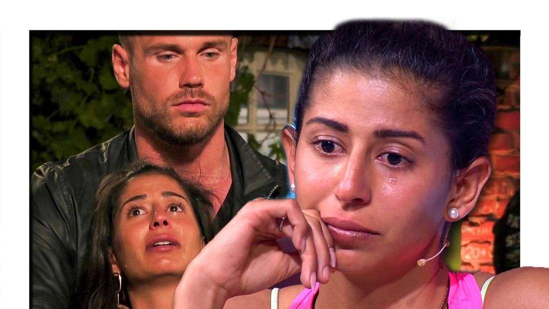 Fotomontage: Eva Benetatou weint, im Hintergrund hat Chris die Arme um sie gelegt