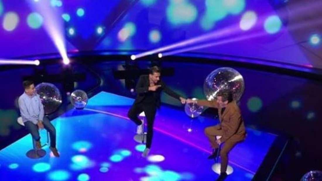 """Florian Silbereisen, Thomas Anders und Miguel in der Show """"Klein gegen Groß"""""""