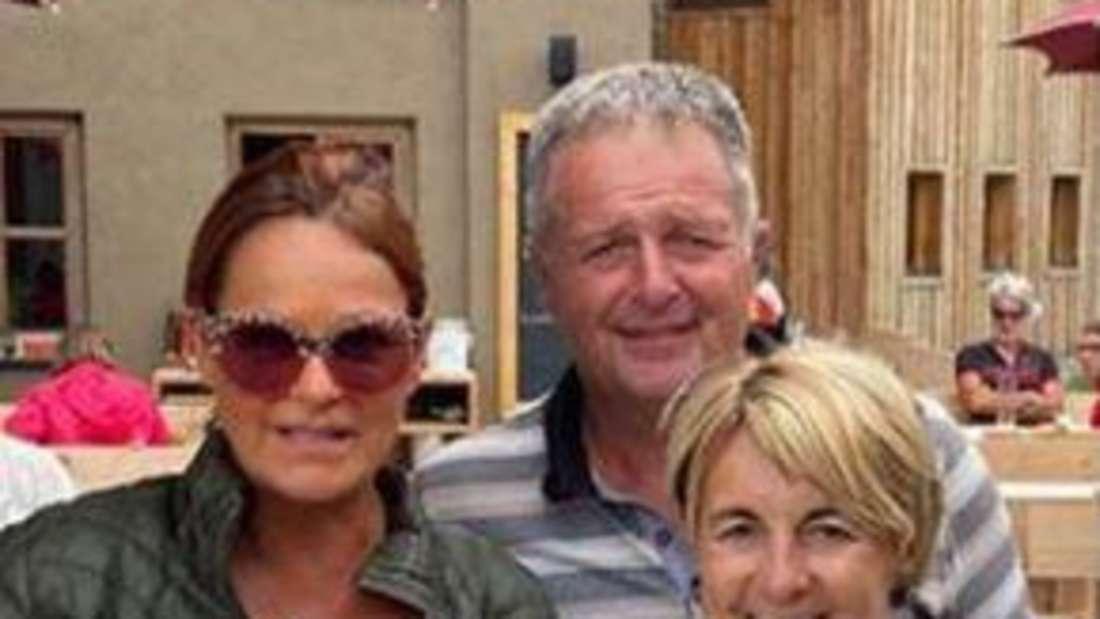 Andrea Berg und Norbert Rier und seine Ehefrau auf seinem Hof in Südtirol