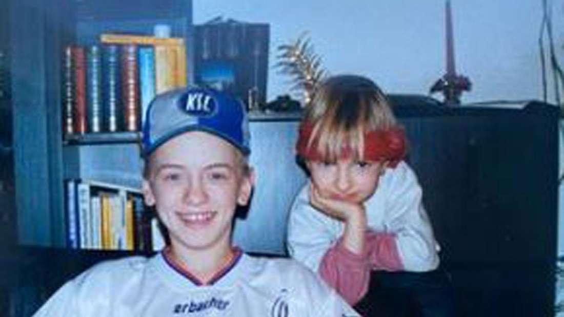 Ben Zucker mit Schwester Sarah Zucker vor circa 25 Jahren