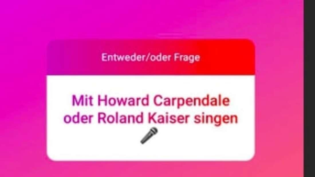 Screenshot von Ramon Rosellys Instagram Q&A: Mit Howard Carpendale oder Roland Kaiser singen?