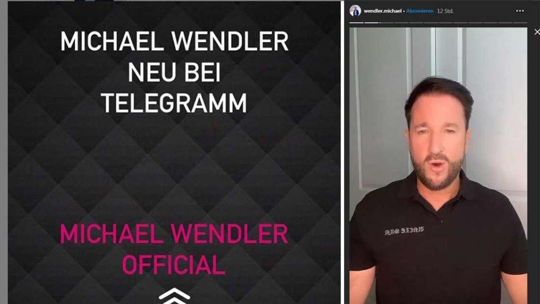 Michael Wendler verkündete in seiner Instagram-Story, dass er nun einen Telegram-Kanal eingerichtet habe, um dort unzensiert kommunizieren zu können.