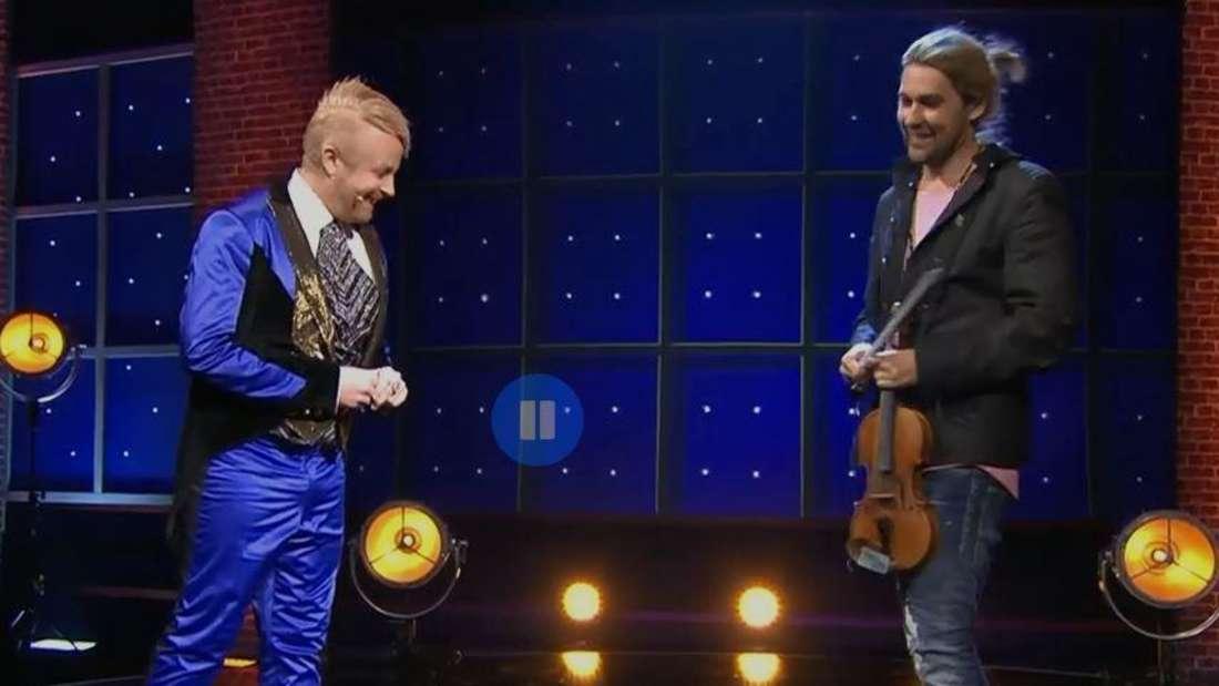 Schlagerstar und Moderator Ross Antony mit David Garrett bei der Abschiedsshow für das Deutsche Fernsehballett