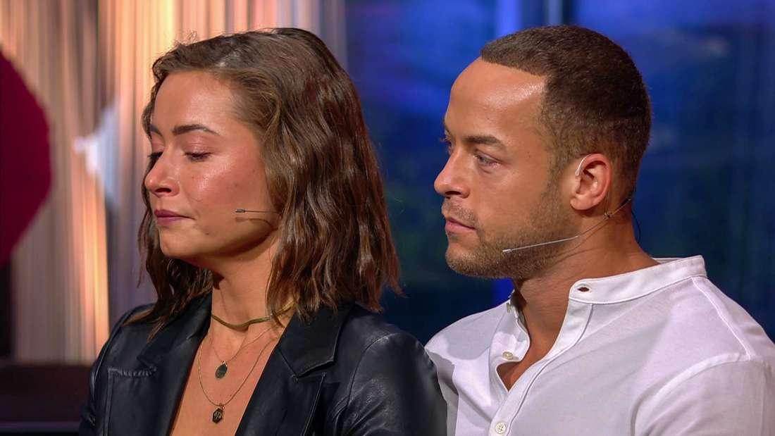 """Jenny Lange und Andrej Mangold beim """"Sommerhaus""""-WIedersehen."""
