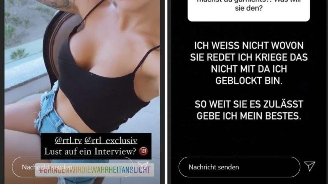 """Instagram-Posts von """"Dschungelcamp""""-Star Elena Miras und ihrem Ex Mike Heiter"""