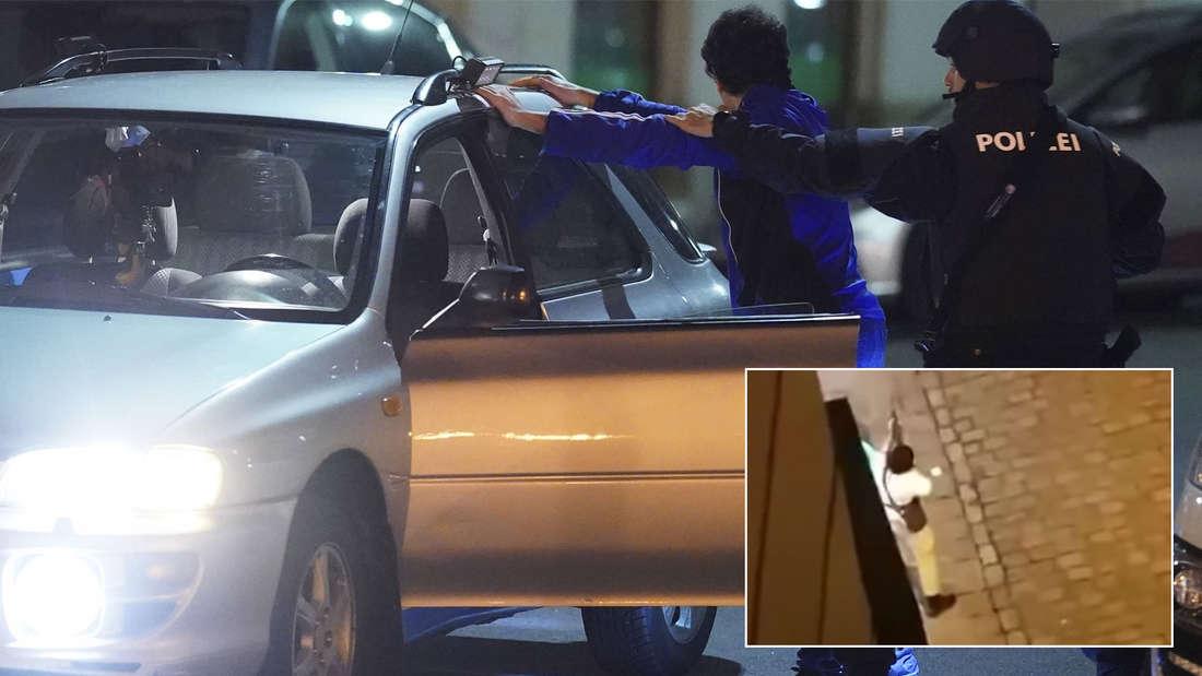 Screenshot Täter mit Waffe nach Terroranschlag in Wien