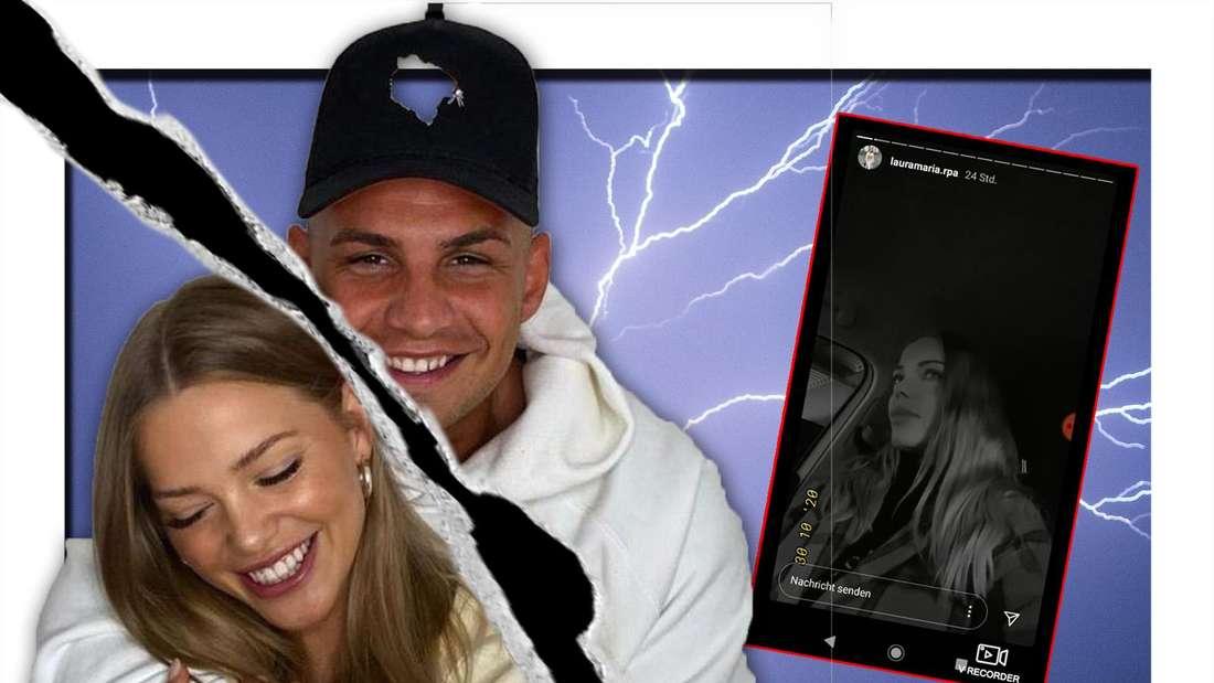 Pietro Lombardi und Laura Maria lächeln, Screenshot von Laura (Fotomontage)