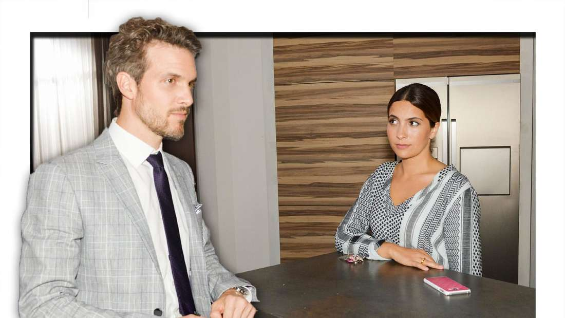 Felix Lehmann schaut konzentriert, Laura beobachtet ihn