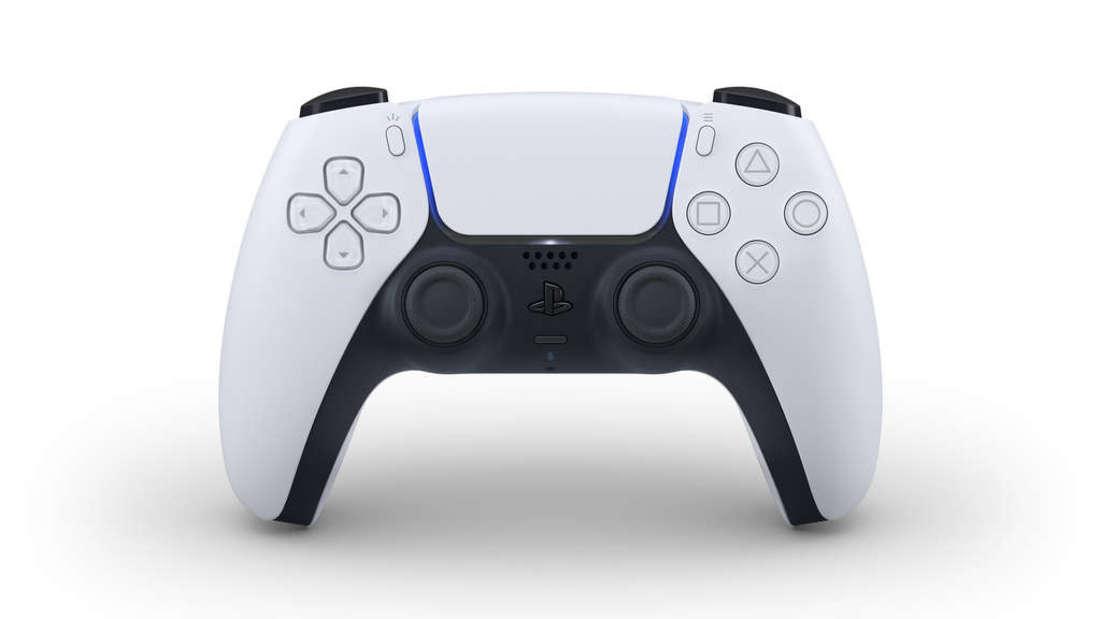 "So sieht der""Dual Sense"" Controller der PS5 aus."