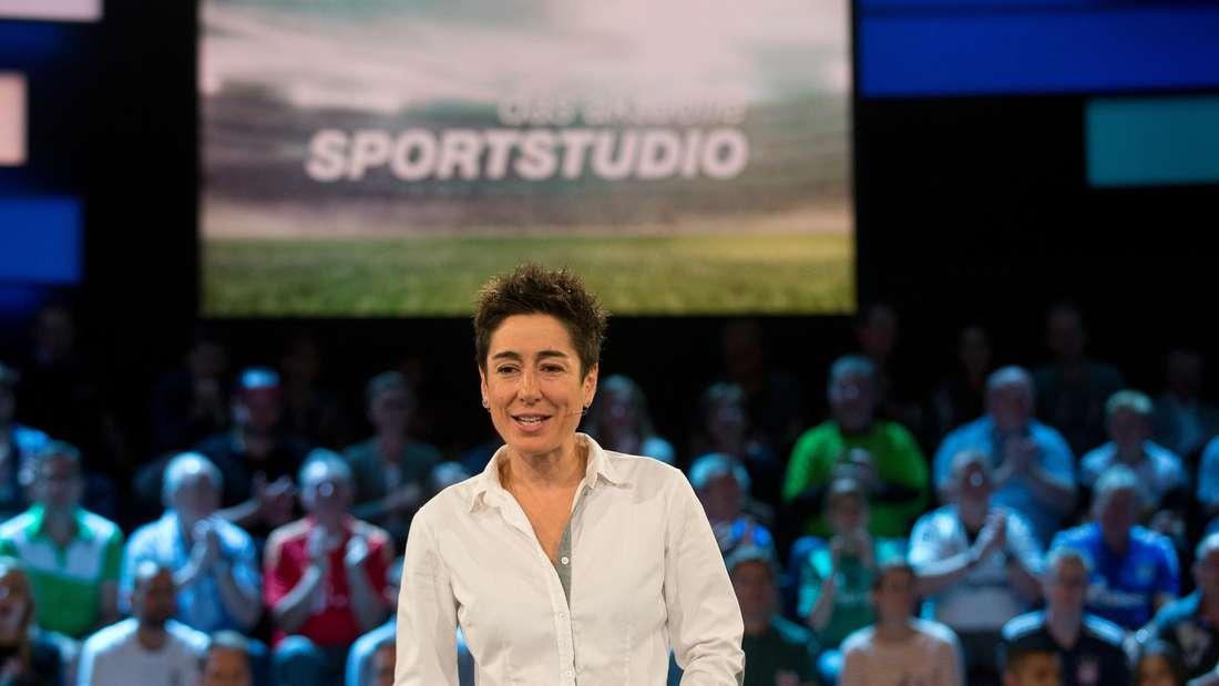 Dunja Hayali moderiert das Aktuelle Sportstudio