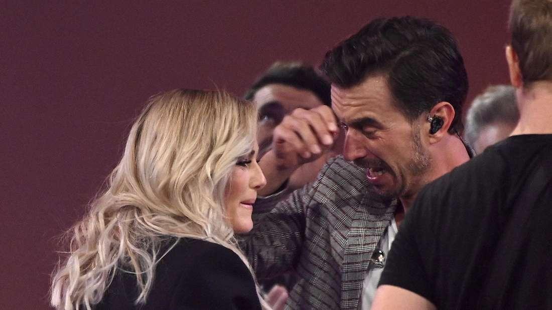 Bei den Schlagerchampions 2019 flossen viele Tränen bei Florian wegen des Wiedersehens mit Helene.