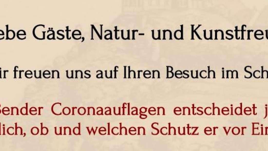 Ein Screenshot der Website von Schloss Brandenstein