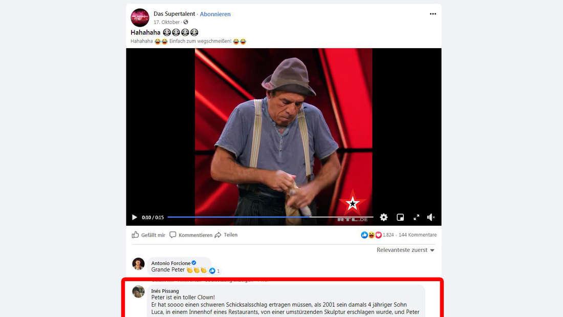"""Bei Facebook sind die Fans schockiert über das Todesdrama bei """"Supertalent""""-Kandidat Peter Shub."""
