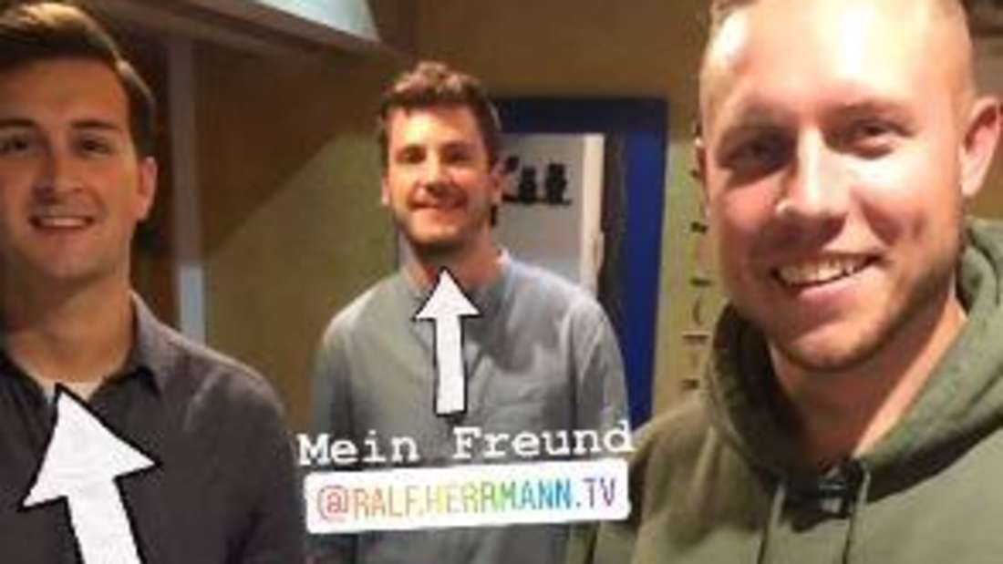 Bauer sucht Frau: Jungbauer Patrick mit Bauernreporter Ralf Herrmann und Freund Philipp Christ