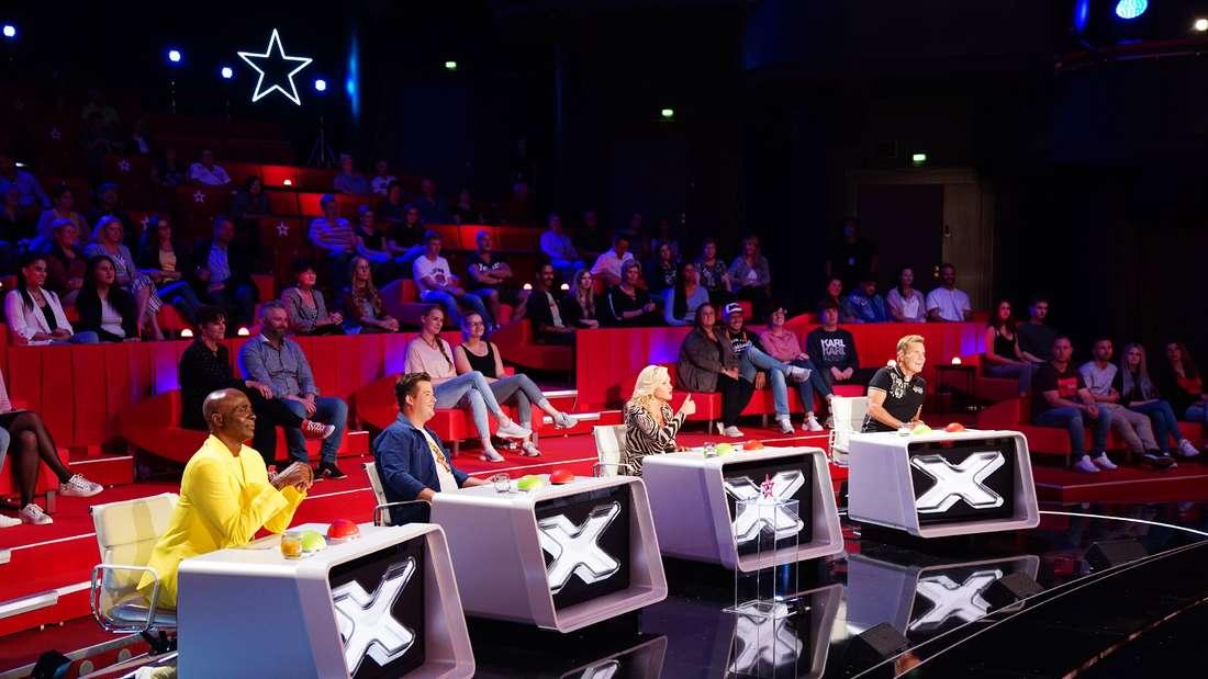 Die Supertalent-Jury 2020 bei RTL um Chef Dieter Bohlen (r.).