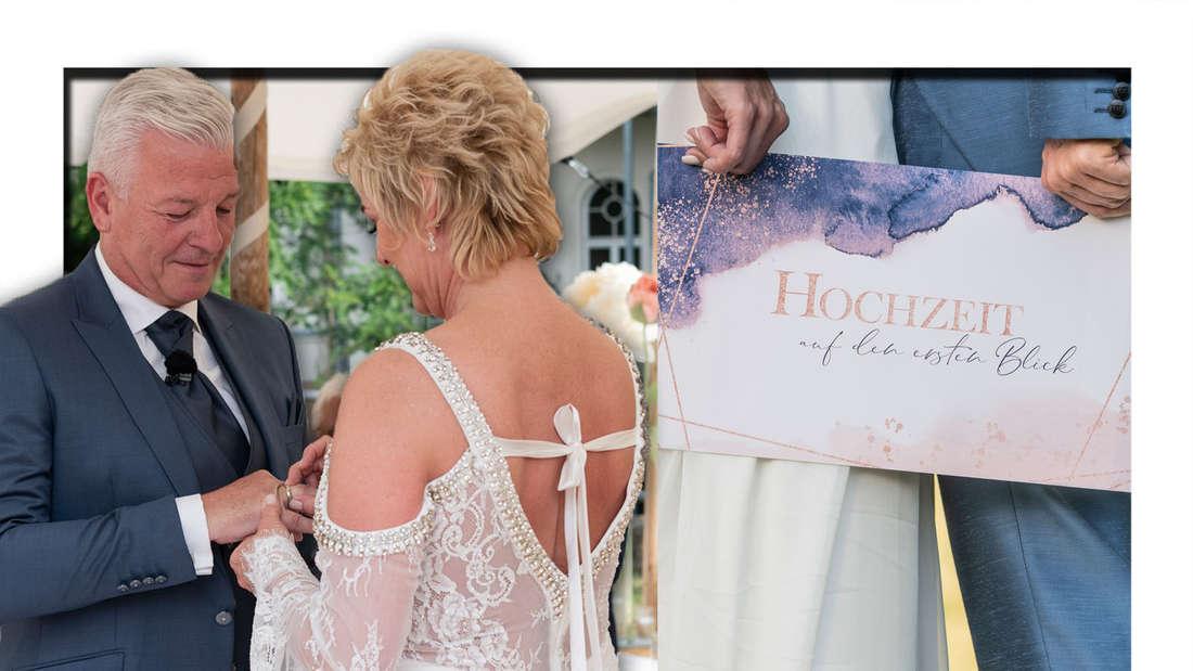 """Bei """"Hochzeit auf den ersten Blick"""" bei Sat.1 sahen die TV-Zuschauer am Mittwoch, wie sich Wiebke (52) und Norbert (59) das Ja-Wort gaben."""