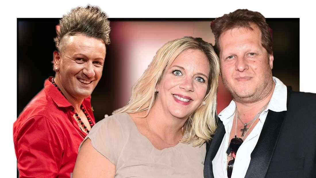 """Pärchenfoto der """"Goodbye Deutschland""""-Stars Daniela und Jens Büchner, dahinter grinst Ennesto Monte"""
