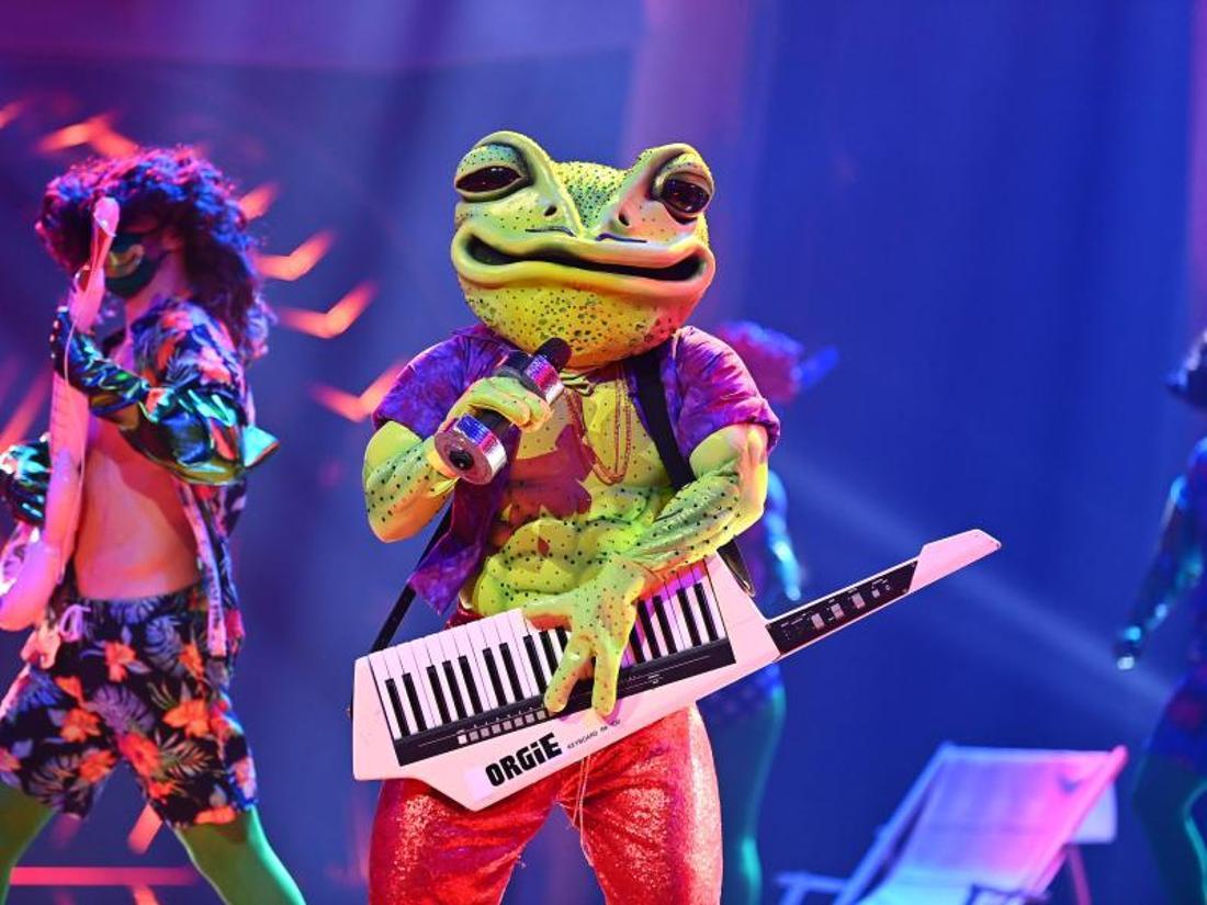Die Figur «Der Frosch» tritt in der ProSieben-Show «The Masked Singer» auf.