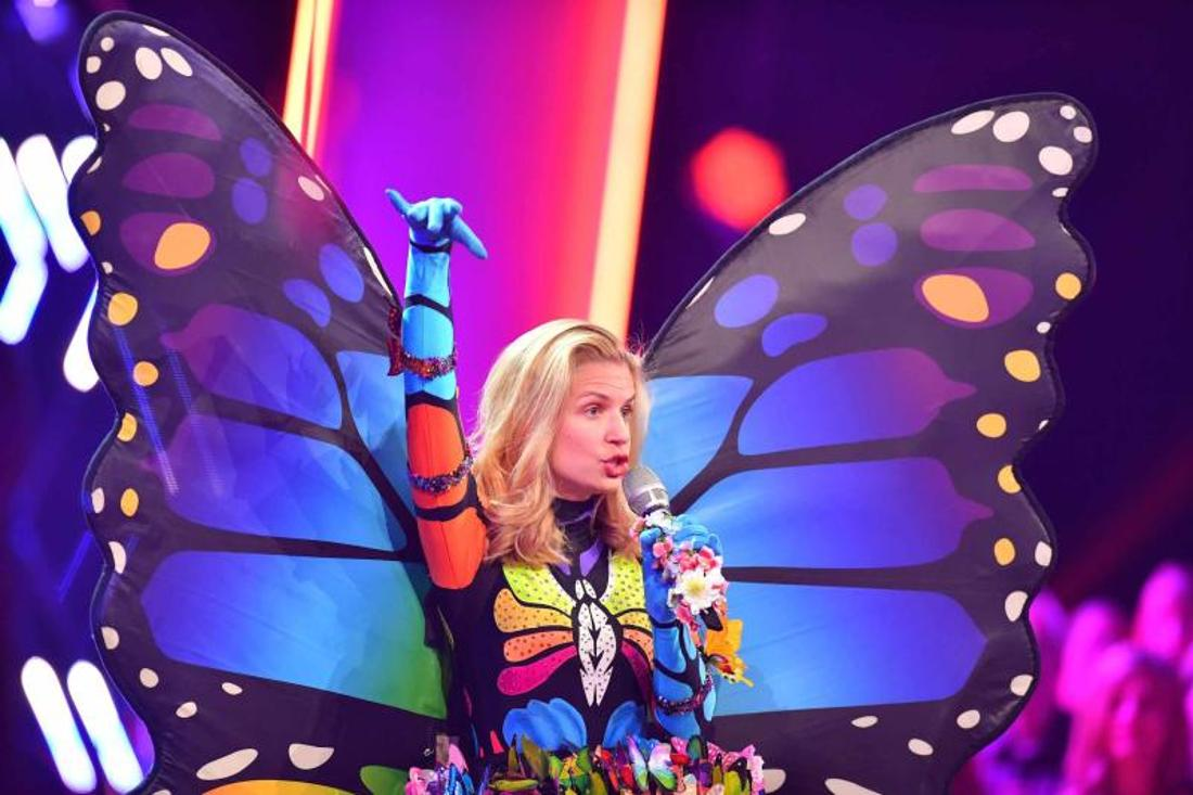 "Susan Sideropoulos als ""Der Schmetterling"" in der Pro7-TV-Show ""The Masked Singer""."