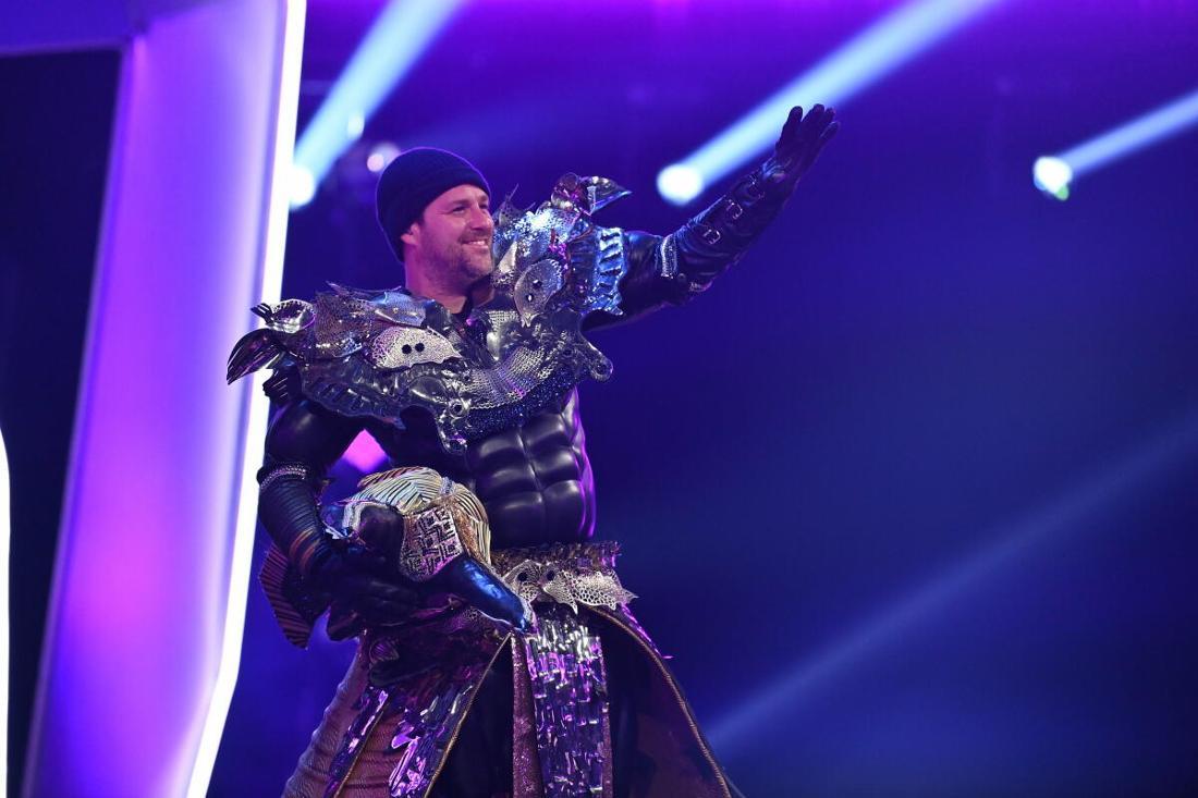 Der Popsänger und Moderator steckte in dem Kostüm «Anubis» - einer ägyptischen Gottheit.