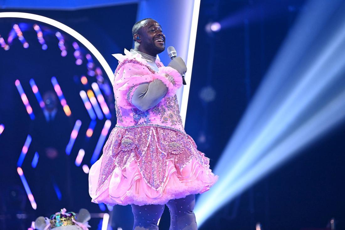 Nelson Müller steht bei der ProSieben-Show «The Masked Singer» ohne Maske auf der Bühne. Der TV-Koch steckte in dem Kostüm eines Ballett-Nilpferds.
