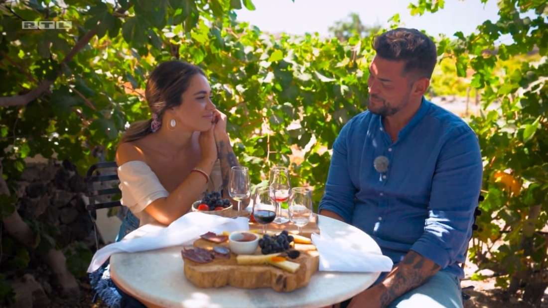 Bachelorette Melissa und Ioannis beim Dreamdates auf Santorini