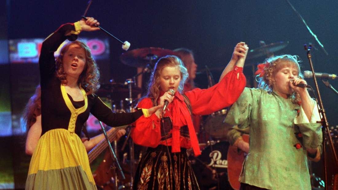 Ein früheres Bild von Maite Kelly und ihren Geschwistern auf der Bühne