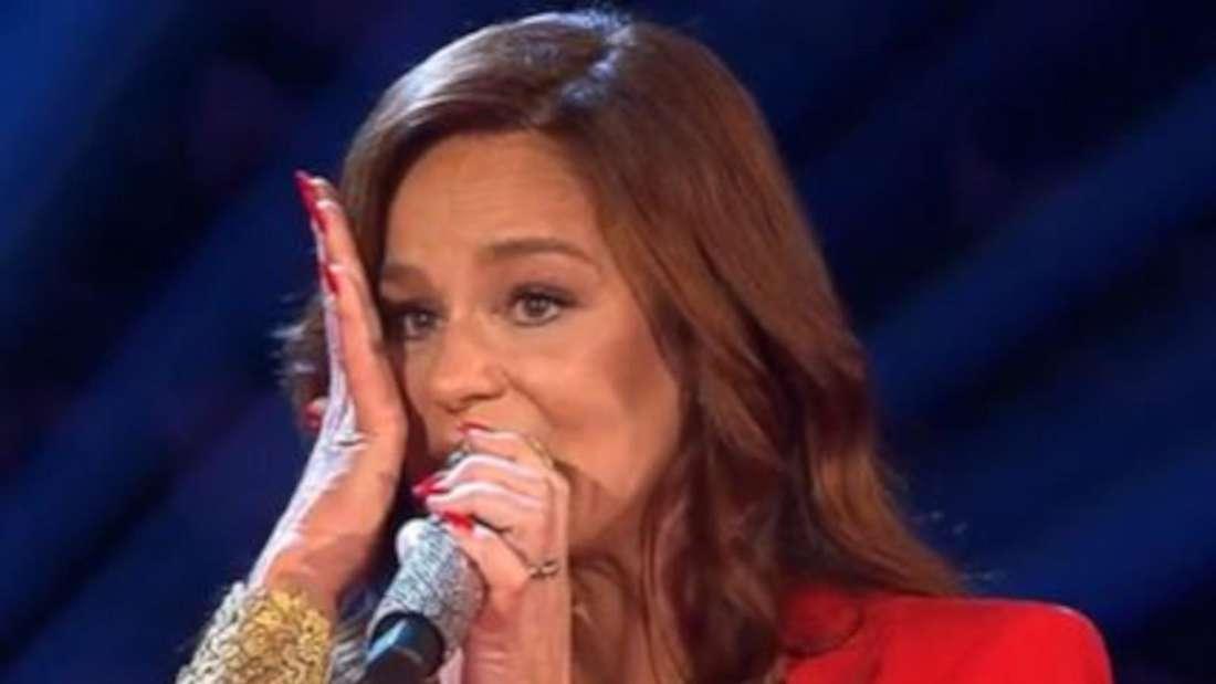 Andrea Berg weint auf der TV-Bühne