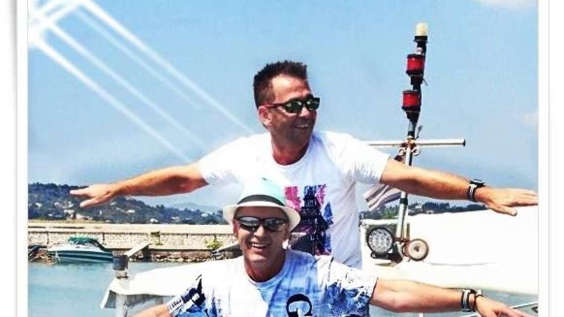 Michael und Jens auf einem Boot