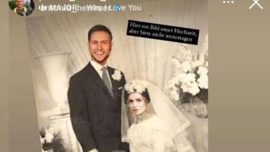 Bauer sucht Frau: Hochzeitsfoto von Antonia und Patrick als Fotomontage