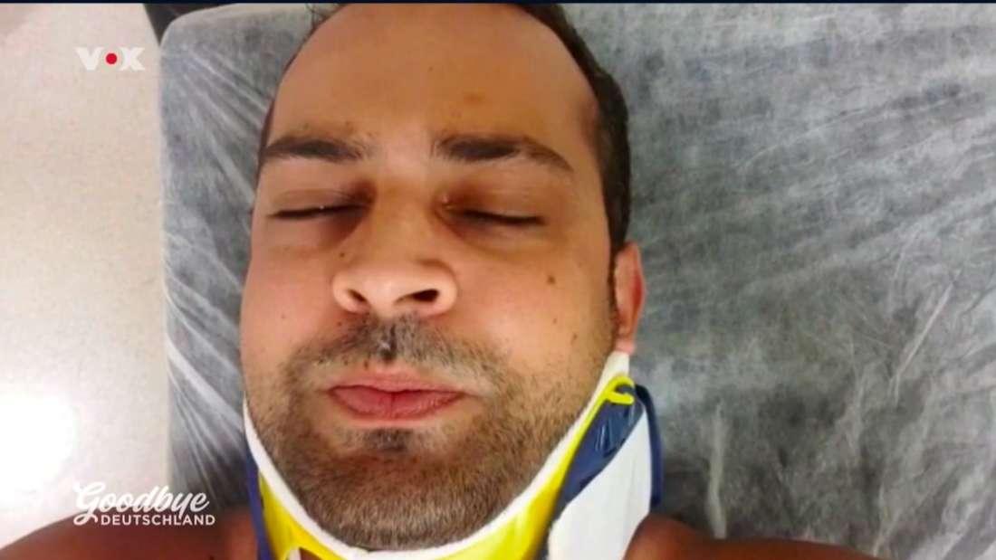 """""""Goodbye Deutschland""""-Auswanderer Sammy nach einem Verkehrsunfall im Krankenhaus"""
