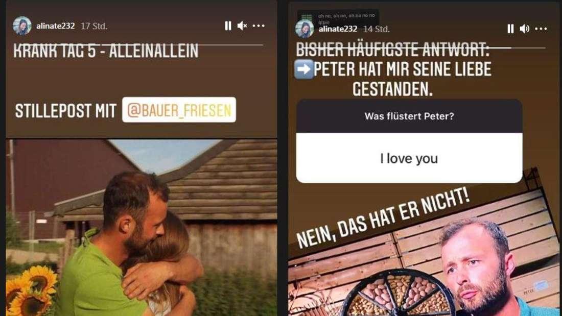 Bauer Peter und Alina lieben sich. Das zumindest vermittelt die Insta-Story der Hofdame.