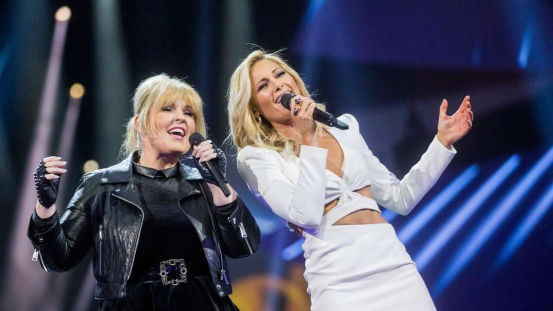 Maite Kelly und Helene Fischer singen ihr Duett auf der Bühne