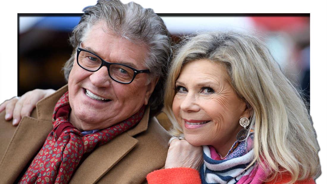 Marianne und Michael Hartl sitzen auf dem Viktualienmarkt vor einem Interview mit der Deutschen Presse-Agentur am 22.02.2019 in München (Fotomontage)