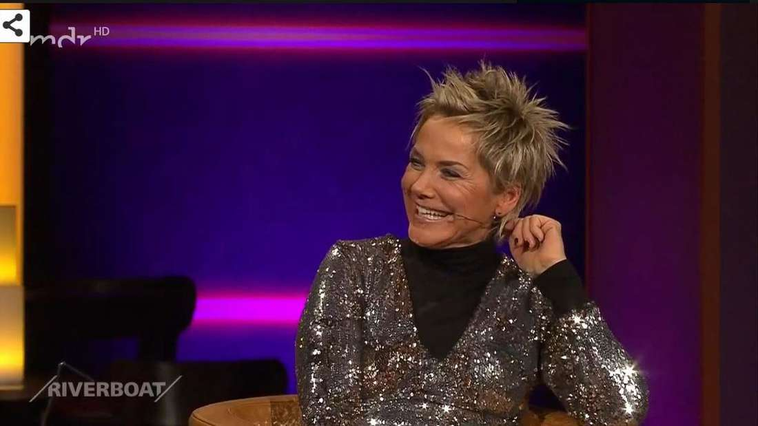 """Moderatorin und Sängerin Inka Bause ist zu Gast in der MDR-Talkshow """"Riverboat"""""""