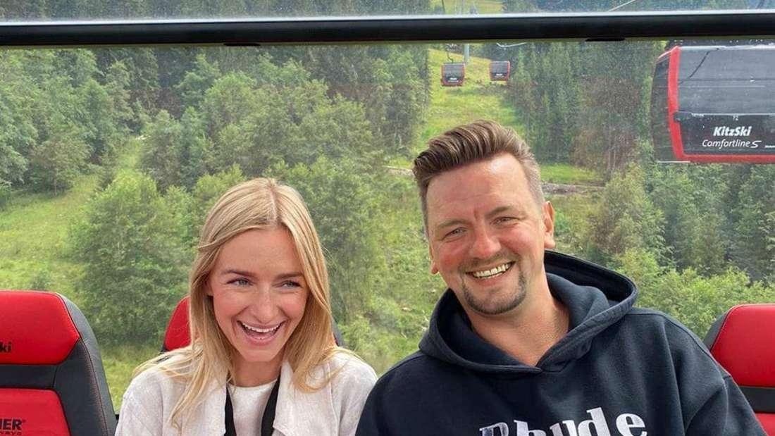 Schlagersänger Ben Zucker mit seiner Schwester Sarah in Kitzbühel