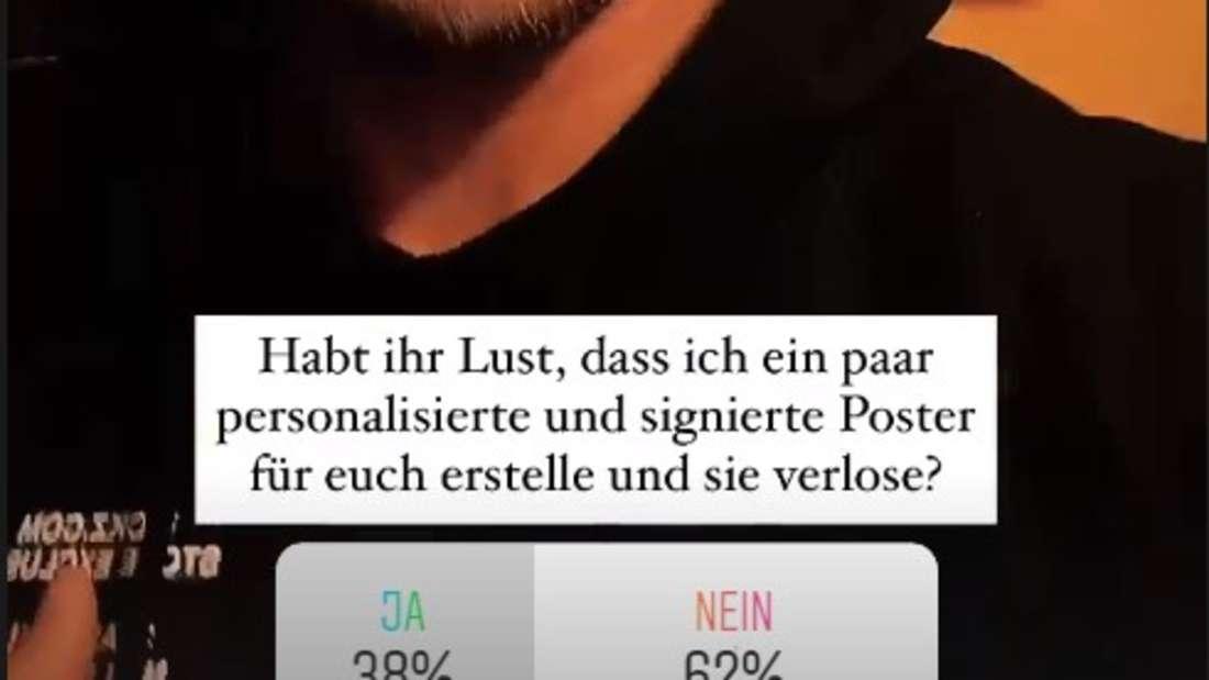 """Eine Instagram-Story von Ex-Bachelor und """"Sommerhaus der Stars""""-Teilnehmer Andrej Mangold"""