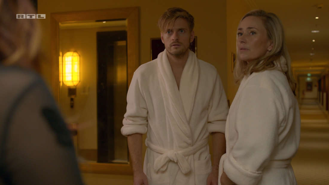Philip und Patricia schauen überrascht