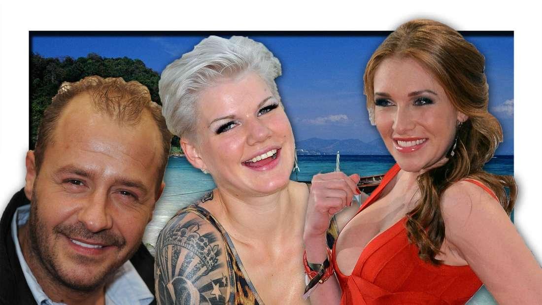 Willi Herren, Melanie Müller und Georgina Fleur (Fotomontage)