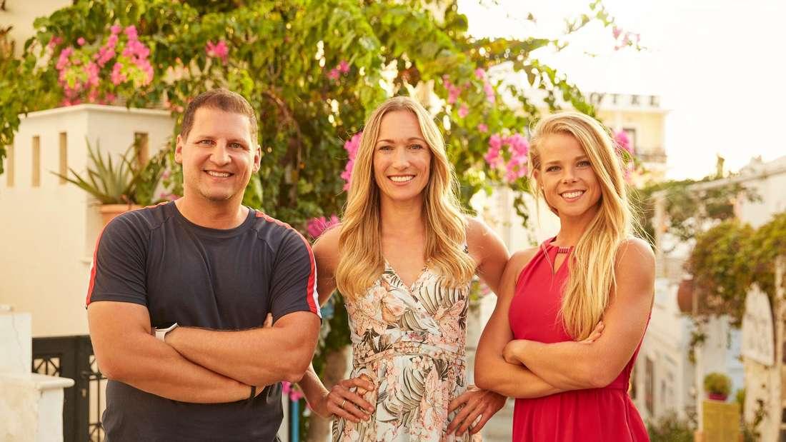 "Ramin Abtin, Christine Theiss und Petra Arvela bei ""The Biggest Loser"" 2021."