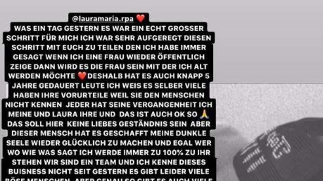 Pietro Lombardi postet in seiner Insta-Story ein Statement zu seiner Beziehung mit Laura Maria